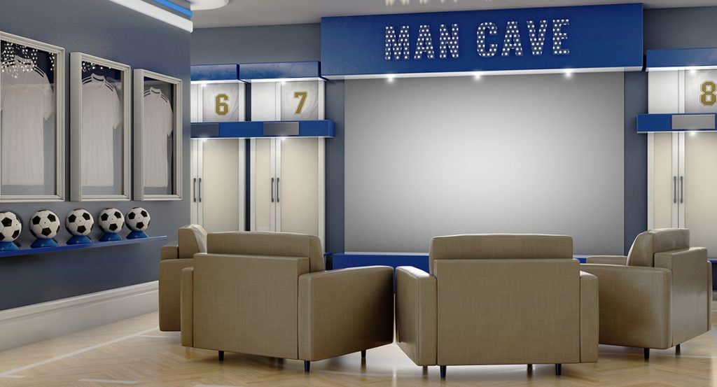 How To Build Your Man Cave In A Small House - mancavewizard.com
